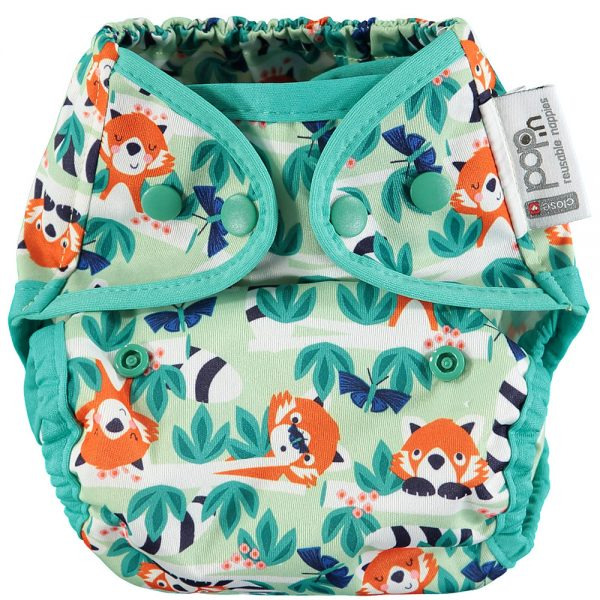 red panda nappy poppers