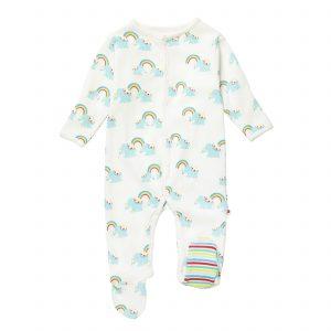 rainbow elephant onesie sleepsuit