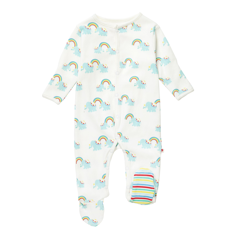 0ae6e6725 Rainbow Elephant Sleepsuit - Derby Eco Store, Sling & Nappy Library